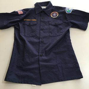 Boy Scouts of America Youth Medium S/S Shirt Blue